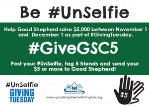 be unselfie givegsc5 campaign for givingtuesday the mission of good shepherd center is to. Black Bedroom Furniture Sets. Home Design Ideas